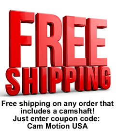 Free shipping on camshafts